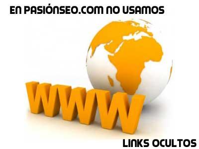 No utilizar Links ocultos