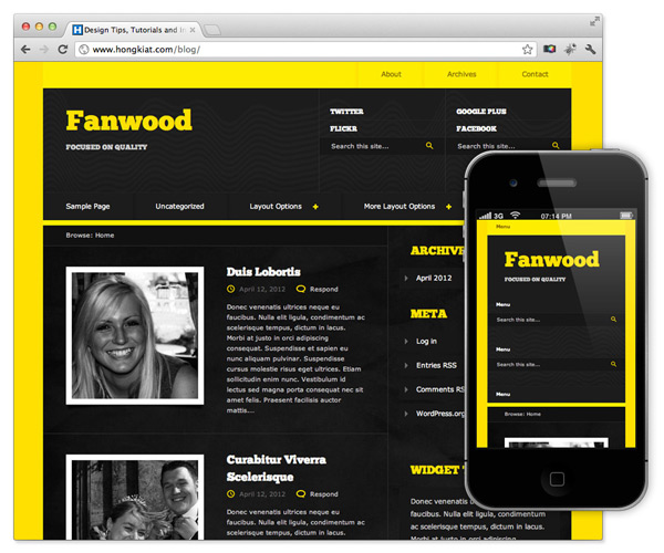 diseo web responsive para wordpress