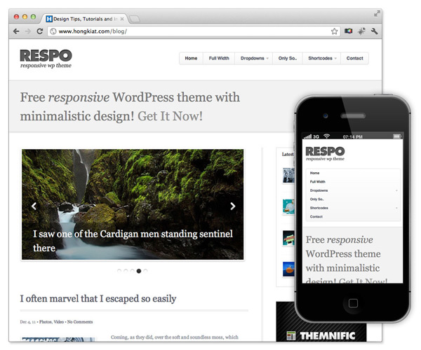 plantilla para wordpress gratis responsive