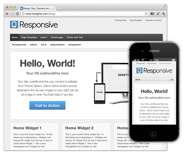 theme gratis para wordpress adaptable