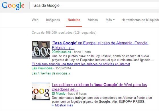 Tasa de Google