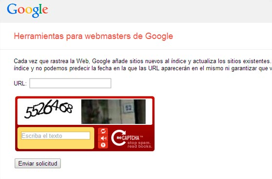 Google notificar nueva URL