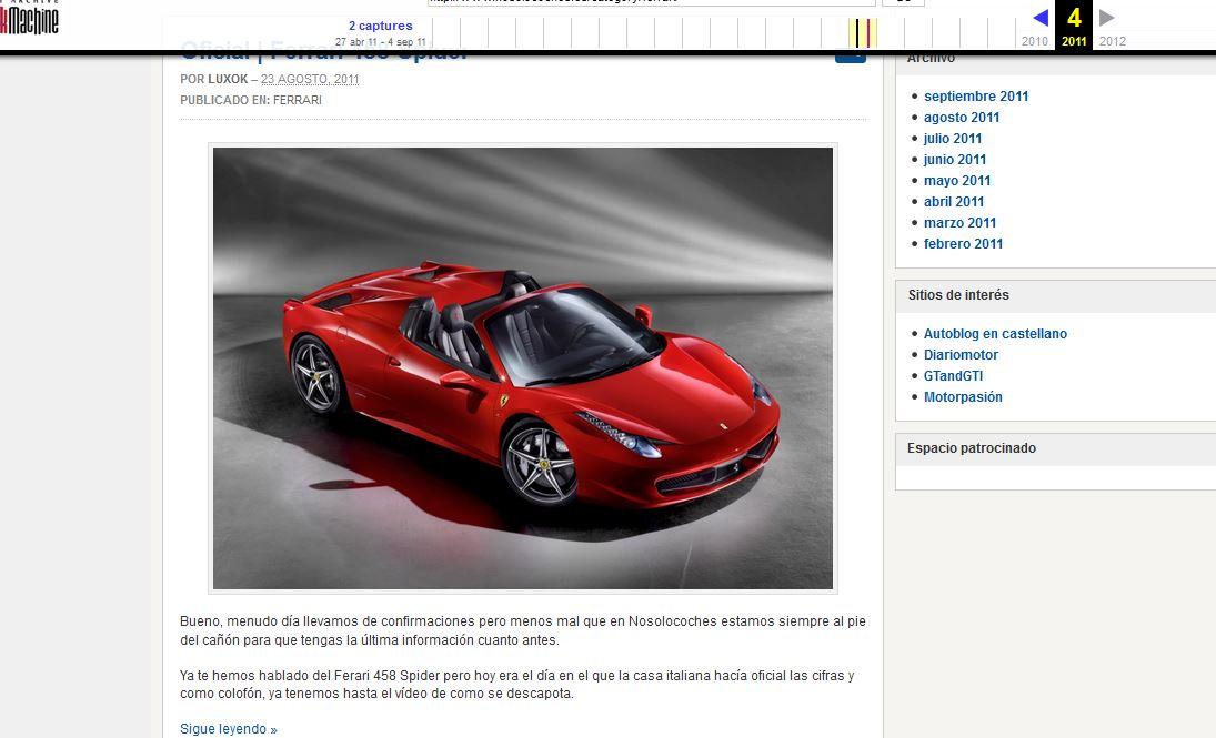 camptira de informaicon del dominio de arhive