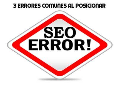 3 errores comunes al posicionar un sitio web