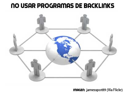 backlinks no utilizar programas