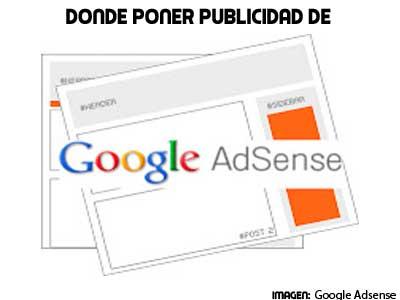 donde colocar publicidad de google adsense