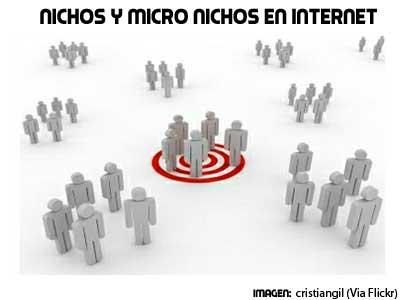 los nichos y micro nichos en Internet