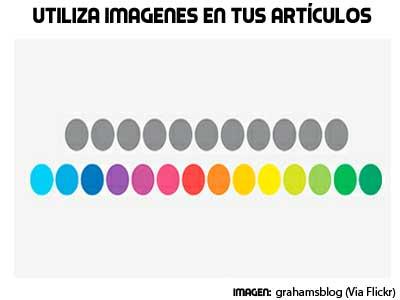 utiliza imágenes en tus artículos