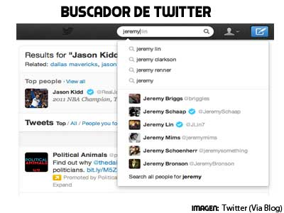 buscador de contenidos de Twitter