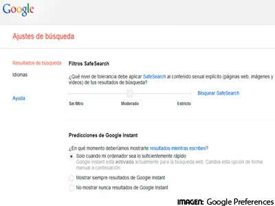 Google permite guardar las preferencias de busquedas