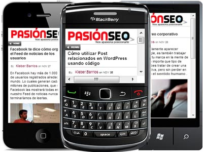 Pasion SEO versión móvil