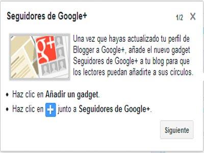Integrar Seguidores Google+ en Blogger