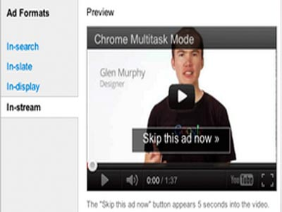 Google Adwords para Videos formato TrueView in-stream