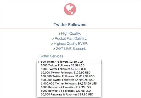 compra pack de seguidores en Twitter