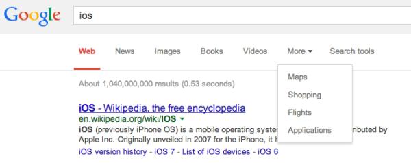google filtro iOS