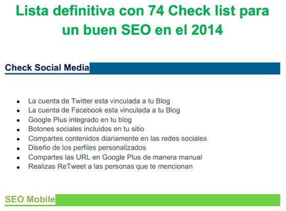Check Listo para el SEO 2014