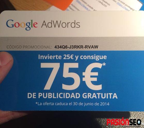 Gratis Cupón para Google Adwords