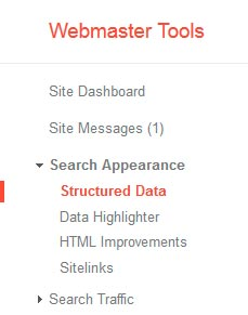 Datos estructurados de Google Webmaster Tools