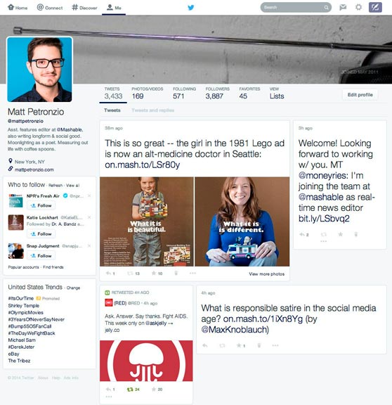 Twitter posible nuevo diseño