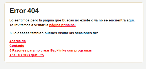 Error 404 sitelinks