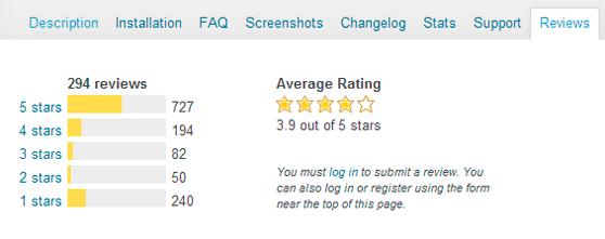 Reviews plugins