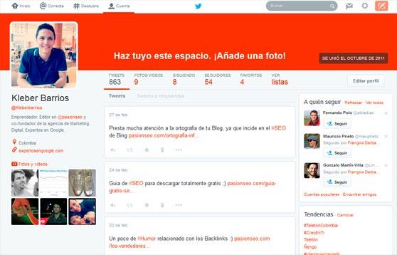 Diseño Twitter 2014
