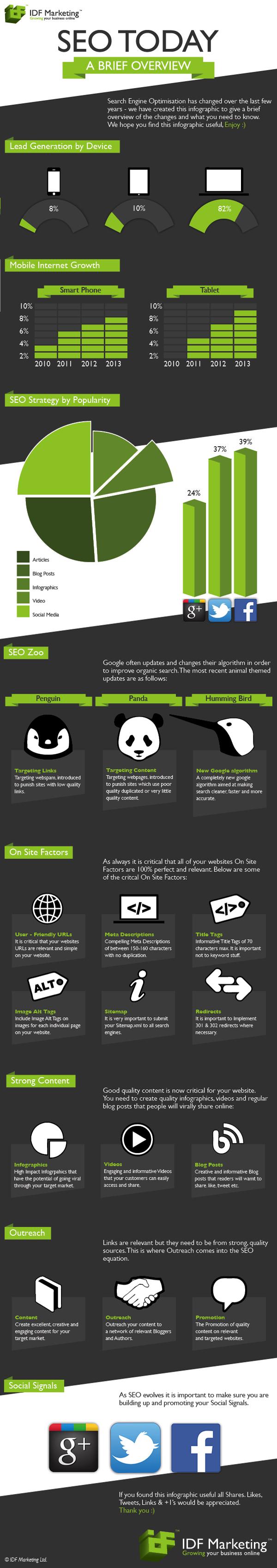 Infografia del SEO hoy en dia